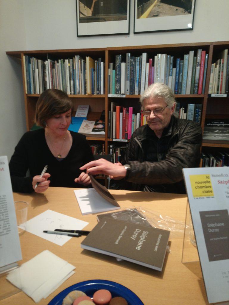 Stéphane Duroy & Sophie Bernard signent leur livre Rencontres avec Stéphane Duroy Éd. Filigranes - La Nouvelle Chambre Claire